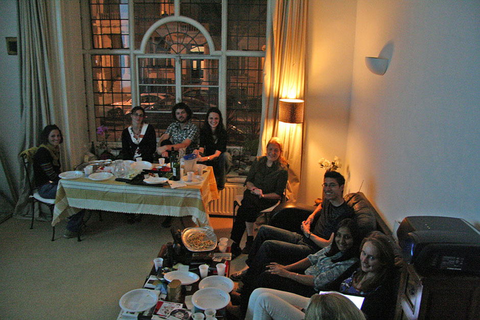 Synaptic Plasticity and Repair Group (Vincenzo De Paola) – Dinner at Vincenzo De Paola's flat, 25 September 2009