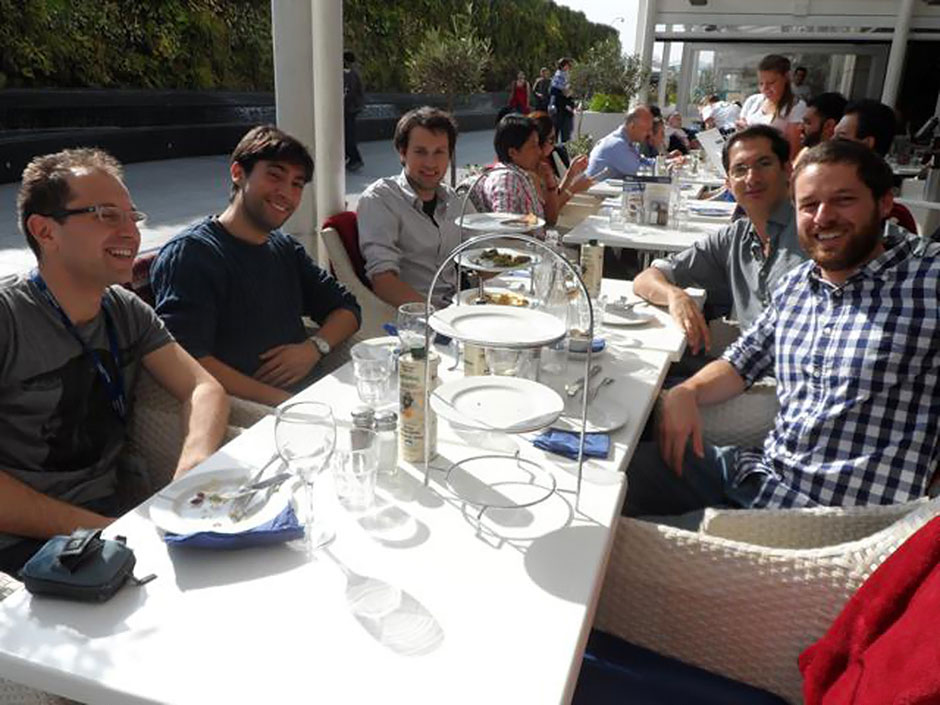 Synaptic Plasticity and Repair Group (Vincenzo De Paola) – Goodbye lunch at Westfield for Michele Ettorre, 27 September 2013