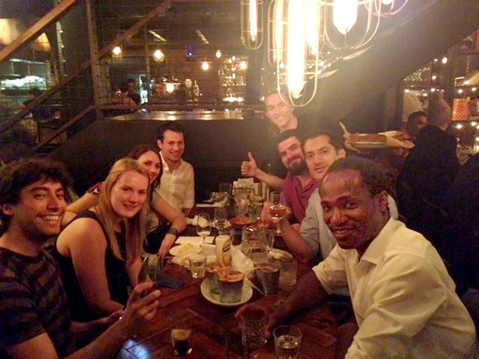 Synaptic Plasticity and Repair Group (Vincenzo De Paola) – Goodbye lunch at the Big Easy in Soho for Catherine Wrench, 24 July 2014