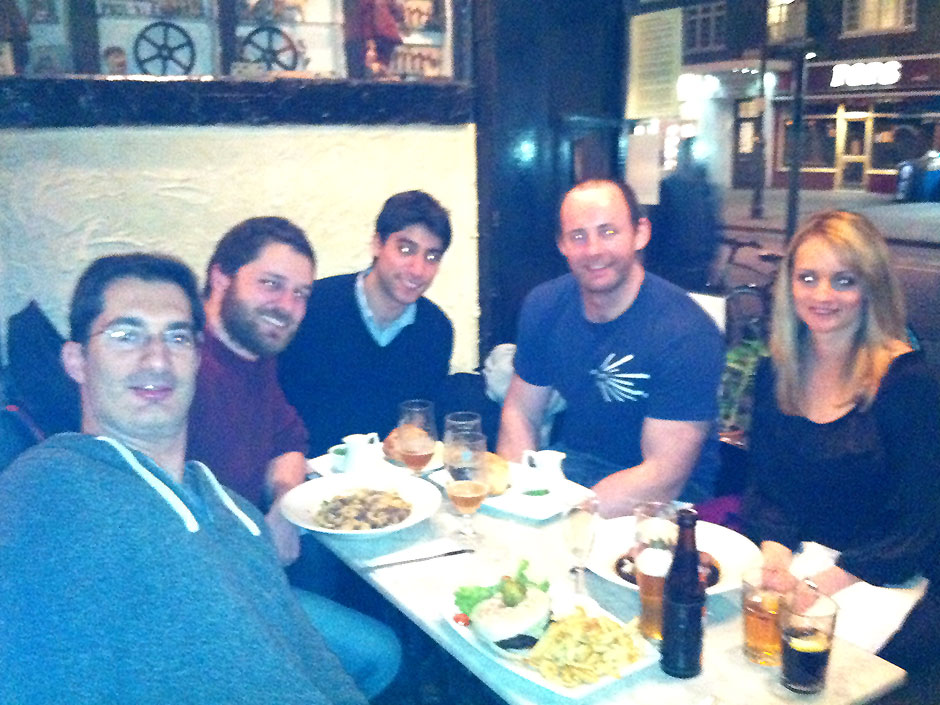 Synaptic Plasticity and Repair Group (Vincenzo De Paola) – Goodbye dinner for Dawn Thompson, 21 February 2012