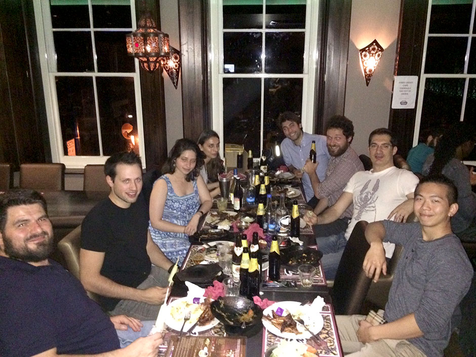Synaptic Plasticity and Repair Group (Vincenzo De Paola) – Congratulatory and farewell dinner for Peter Bloomfield and Lucien West, 22 August 2016