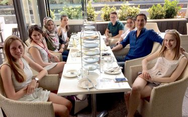 Synaptic Plasticity and Repair Group (Vincenzo De Paola) – Lunch at The Real Greek at Westfield London, Shepherd's Bush, 19 June 2017