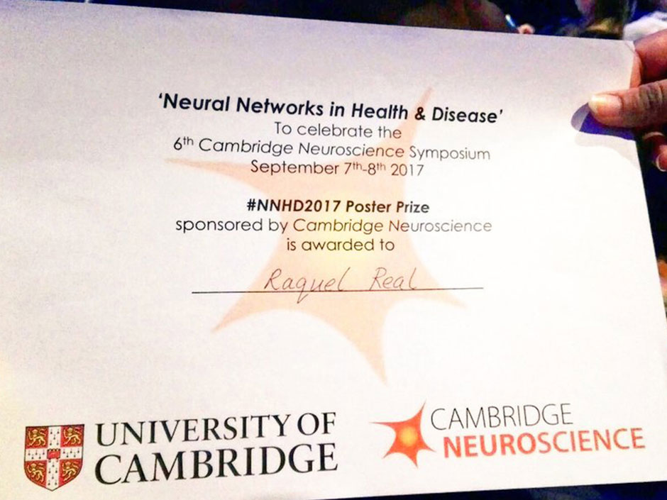 Synaptic Plasticity and Repair Group (Vincenzo De Paola) – 6th Cambridge Neuroscience Symposium (NNHD 07), 7 – 8 September 2017