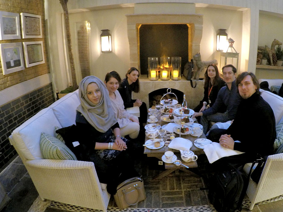 Synaptic Plasticity and Repair Group (Vincenzo De Paola) – Christmas 2017 tea at the Ham Yard Hotel in Soho, London, 14 December 2017
